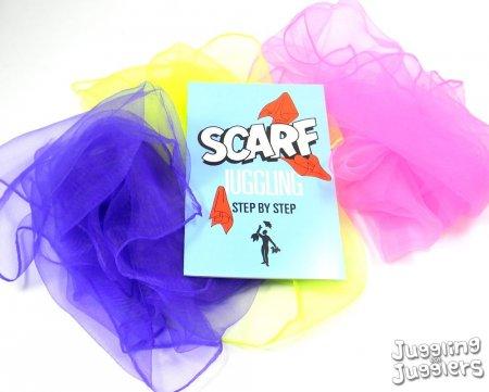 3 x coloured juggling scarves free scarf juggle book ebay